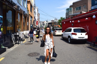 Itaewon was another shopping place--catered towards Western tourists...that's me!