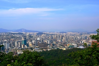 Yes- I supersaturated and contrasted this picture, to show you the city more clearly. The tower is the highest point of Korea, you can see North Korea from up there--very clearly actually. But the whole cityscape is just breathtaking.