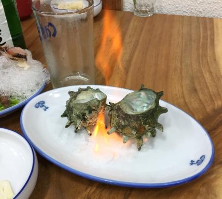 flaming shellfish