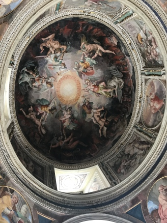 Beautiful painted domes in every building!
